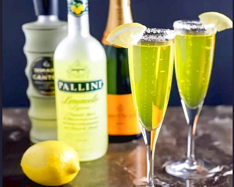 коктейль с лимончелло и шампанским